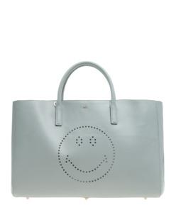 ANYA HINDMARCH Ebury Maxi Smiley Grey