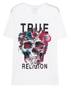 TRUE RELIGION Floral Skull  White