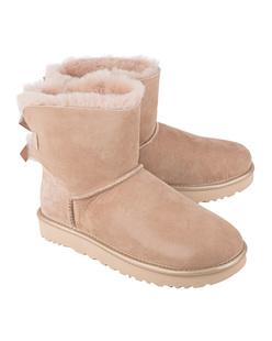 UGG Mini Bailey Bow Metallic Driftwood