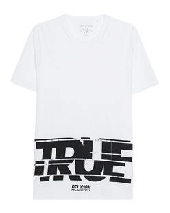 TRUE RELIGION Crew Neck Wording White