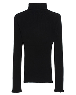 iHEART Ribbed Turtleneck Black