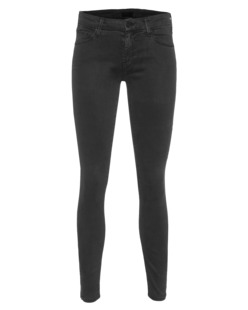 MOTHER The Looker Ankle Zipper Black