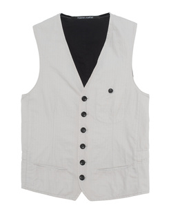 HANNES ROETHER Bi Colour Vest Grey