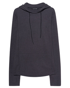 HANNES ROETHER Wool Hoodie Anthracite
