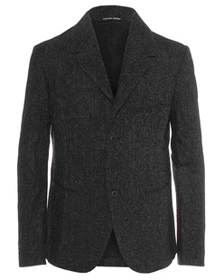 HANNES ROETHER Wool Pocket Black