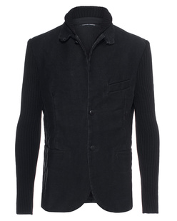 HANNES ROETHER Ripped Jacket Black