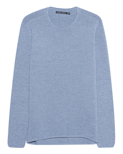 HANNES ROETHER Knitted Crew Blue