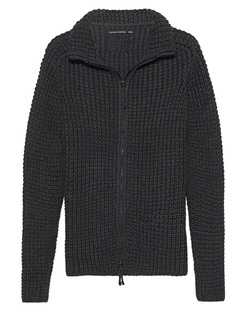 HANNES ROETHER Knit Zip Anthracite
