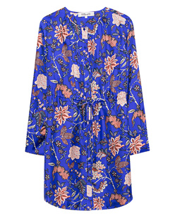 DVF Diane von Furstenberg Cinched Waist Shirt Blue
