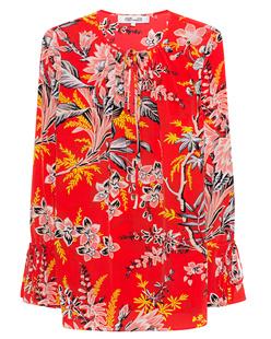 DVF Diane von Furstenberg Avalon Poppy Multi Red