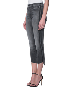 MOTHER Insider Crop Step Fray Dark Grey