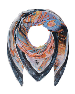 LALA BERLIN Scarf Masiar Big Stretched Paisley Multi