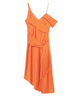 JONATHAN SIMKHAI Satin Asymmetrical Orange