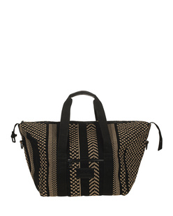 LALA BERLIN Muriel Kufiya Stitch Black Brown