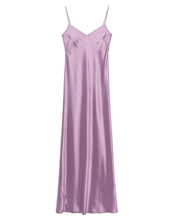 GALVAN LONDON Slip Dress Satin V Neck Lavender