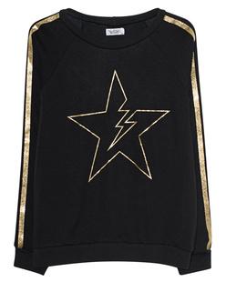 LAUREN MOSHI Noleta Gold Glitter Lightning Star Stripe Black