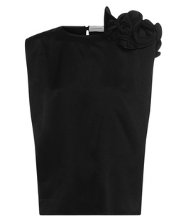 Magda Butrym Sleeveless Shoulder Silk Black