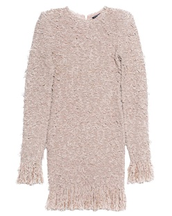 BALMAIN Tweed Dress Nude