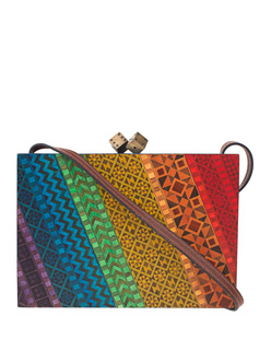 SARAH'S BAG Rainbow Marquetry Multicolor