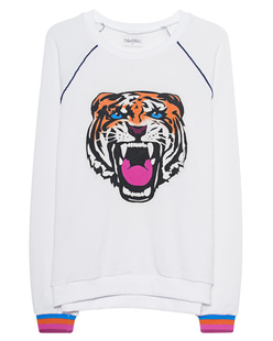 LAUREN MOSHI Lina Raglan Piping Tiger Stripe White