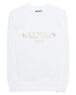 BALMAIN Cotton Logo Front White