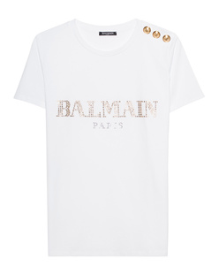 BALMAIN Logo Studs White
