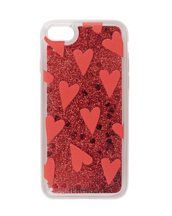 IPHORIA Case Heart Attack Glitter Red