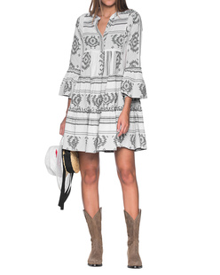 DEVOTION Ethno Dress Grey