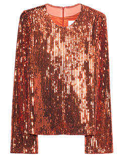 GALVAN LONDON Clara Top Sequin Bronze