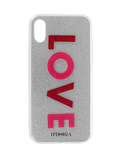 IPHORIA iPhone X 3D Love Silver