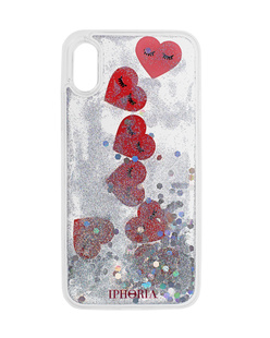 IPHORIA iPhone X Hearts Silver