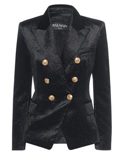 BALMAIN Glitter Buttons Black