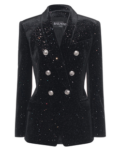 BALMAIN Glitter Velours Black