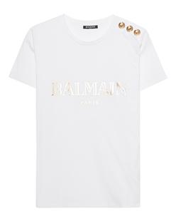 BALMAIN Logo Golden White