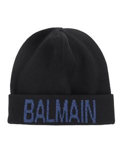 BALMAIN Glitter Logo Black