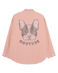 CAMOUFLAGE COUTURE STORK Denim Shirt Dog Rose