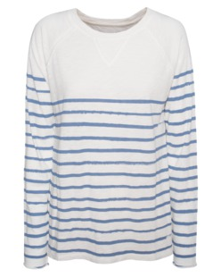 JUVIA Raglan Burn Stripes Blue