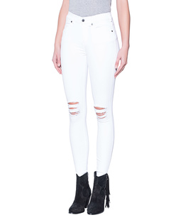 Dr. Denim Jeansmakers Lexy White Ripped Knees