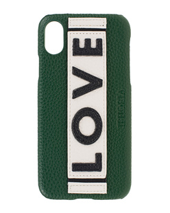 IPHORIA iPhone X/Xs Veggie Leather Love Green