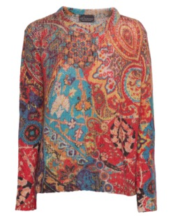 PRINCESS GOES HOLLYWOOD Allover Paisley Red Multi
