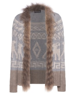 PRINCESS GOES HOLLYWOOD Jacquard Fur Beige Light Grey