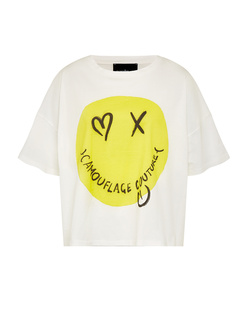 CAMOUFLAGE COUTURE T-Shirt Smiley White
