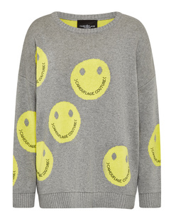 CAMOUFLAGE COUTURE Smiley Allover Grey Yellow