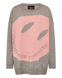 CAMOUFLAGE COUTURE Big Smiley Grey