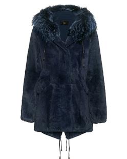 STEFFEN SCHRAUT Notting Hill Fur Coat Atlantic Blue
