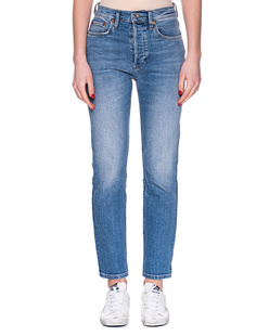 RE/DONE High Rise Ankle Crop Blue