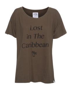 One Teaspoon Caribbean Abbey Tee Khaki