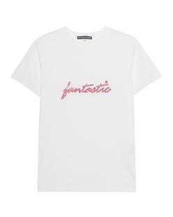 AlexaChung Fantastic Pink Glitter Off White