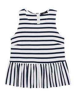 STEFFEN SCHRAUT Peplum Stripes Blue White