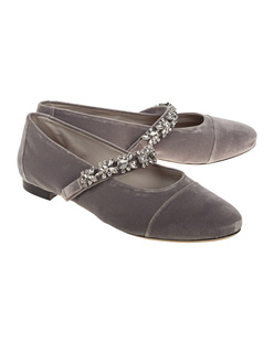 AlexaChung Crystal Strap Grey